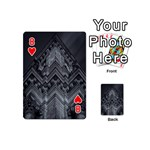 Reichstag Berlin Building Bundestag Playing Cards 54 (Mini)  Front - Heart8
