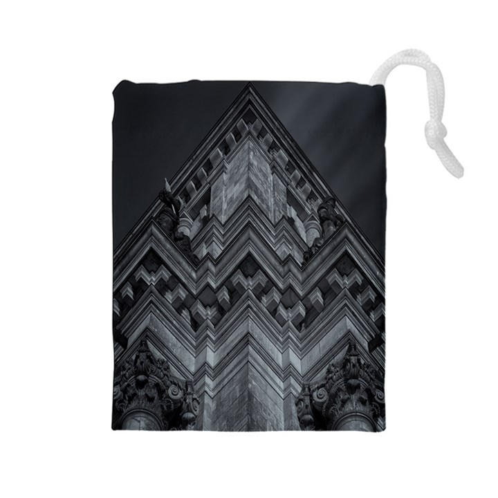Reichstag Berlin Building Bundestag Drawstring Pouches (Large)