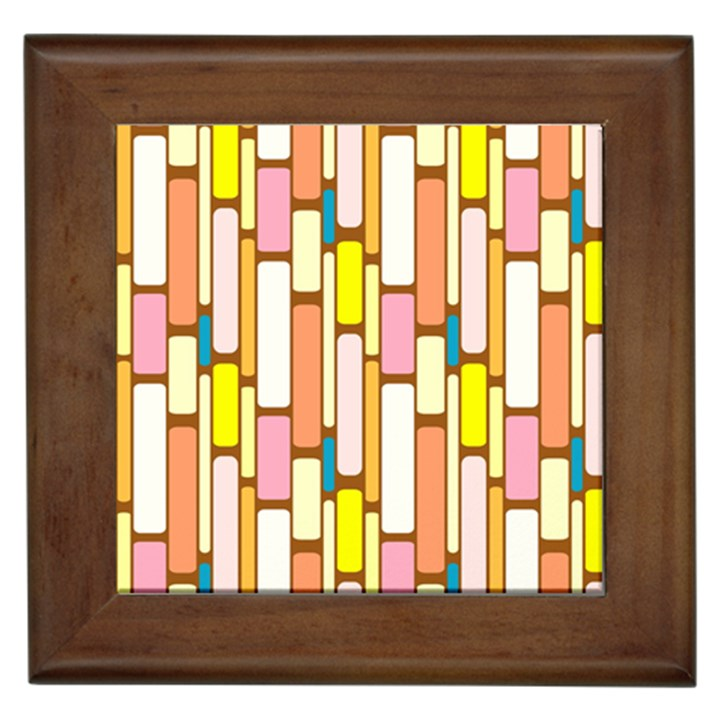 Retro Blocks Framed Tiles