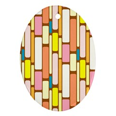 Retro Blocks Ornament (Oval)