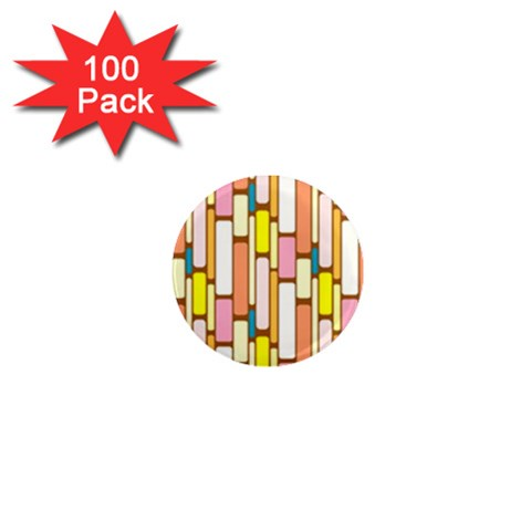 Retro Blocks 1  Mini Magnets (100 pack)