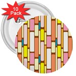 Retro Blocks 3  Buttons (10 pack)  Front