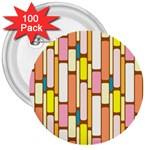 Retro Blocks 3  Buttons (100 pack)  Front