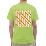 Retro Blocks Green T-Shirt Back
