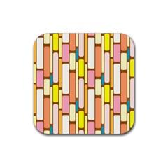 Retro Blocks Rubber Coaster (Square)