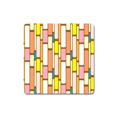 Retro Blocks Square Magnet