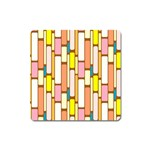 Retro Blocks Square Magnet Front
