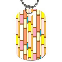 Retro Blocks Dog Tag (One Side)