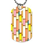 Retro Blocks Dog Tag (Two Sides) Front