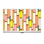 Retro Blocks Business Card Holders Front