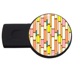 Retro Blocks USB Flash Drive Round (1 GB)