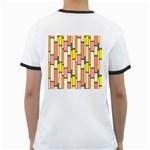 Retro Blocks Ringer T-Shirts Back