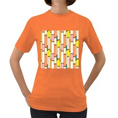 Retro Blocks Women s Dark T-Shirt