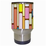 Retro Blocks Travel Mugs (White) Center