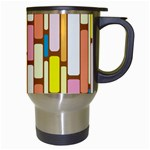 Retro Blocks Travel Mugs (White) Right