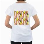Retro Blocks Women s Loose-Fit T-Shirt (White) Back