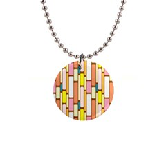 Retro Blocks Button Necklaces
