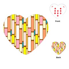 Retro Blocks Playing Cards (Heart)