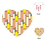 Retro Blocks Playing Cards (Heart)  Front