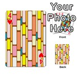 Retro Blocks Playing Cards 54 Designs  Front - Heart4