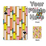 Retro Blocks Playing Cards 54 Designs  Front - Club3