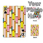 Retro Blocks Playing Cards 54 Designs  Front - Spade10