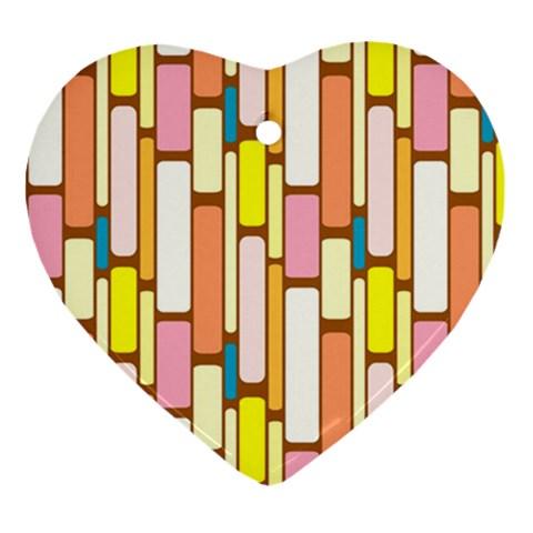 Retro Blocks Heart Ornament (2 Sides)