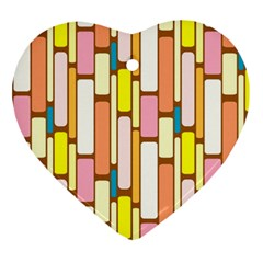 Retro Blocks Heart Ornament (2 Sides)