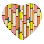 Retro Blocks Heart Ornament (2 Sides) Back