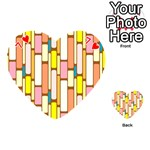 Retro Blocks Playing Cards 54 (Heart)  Front - Heart7