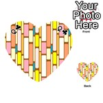 Retro Blocks Playing Cards 54 (Heart)  Front - ClubQ