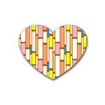 Retro Blocks Rubber Coaster (Heart)  Front