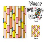 Retro Blocks Multi-purpose Cards (Rectangle)  Front 50