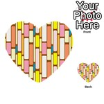 Retro Blocks Multi-purpose Cards (Heart)  Front 44
