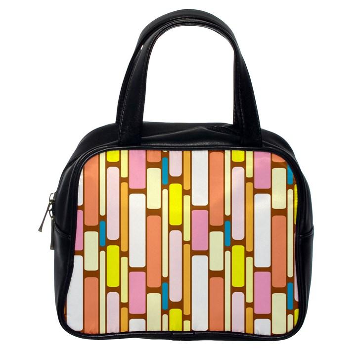 Retro Blocks Classic Handbags (One Side)