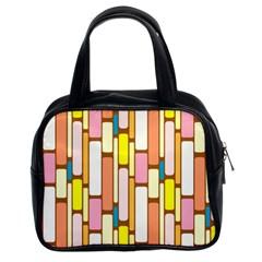 Retro Blocks Classic Handbags (2 Sides)