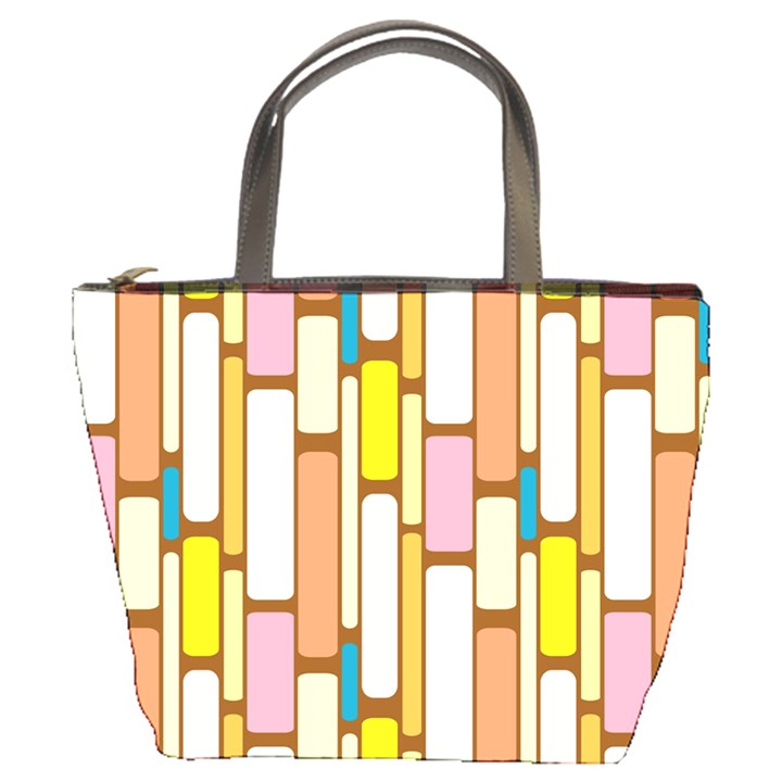 Retro Blocks Bucket Bags