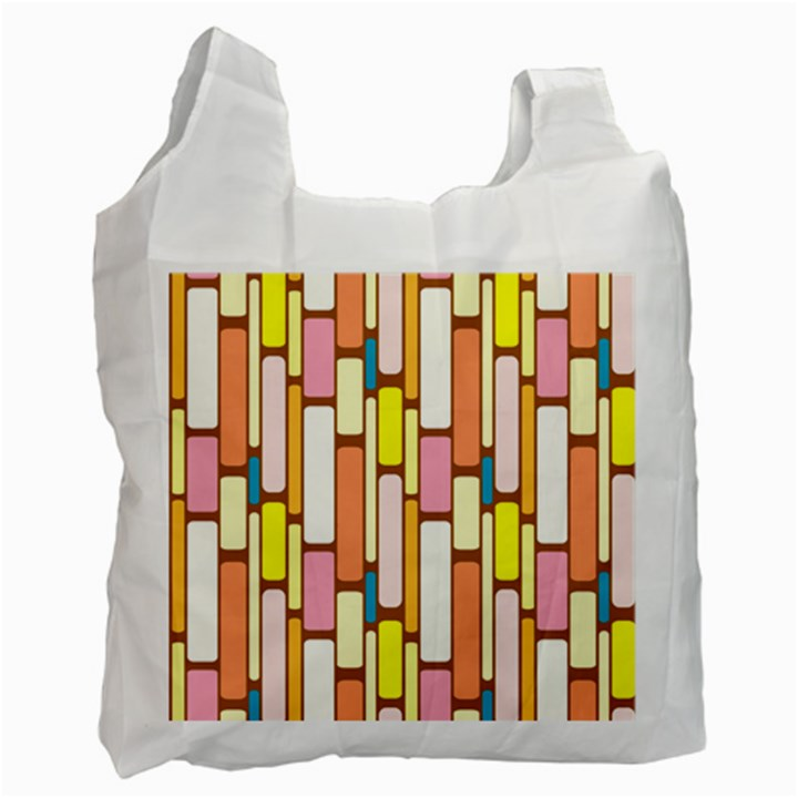 Retro Blocks Recycle Bag (Two Side)