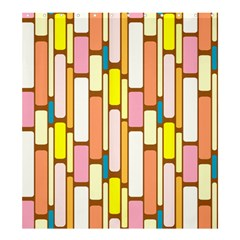 Retro Blocks Shower Curtain 66  x 72  (Large)