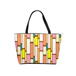 Retro Blocks Shoulder Handbags Front