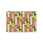 Retro Blocks Cosmetic Bag (Medium)  Front