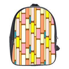 Retro Blocks School Bags(Large)