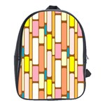 Retro Blocks School Bags(Large)  Front