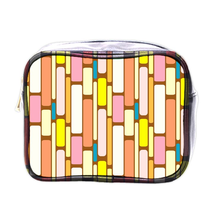 Retro Blocks Mini Toiletries Bags