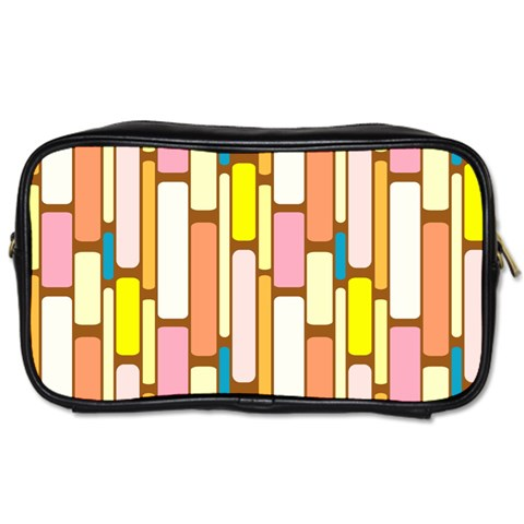 Retro Blocks Toiletries Bags