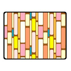 Retro Blocks Fleece Blanket (Small)