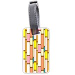 Retro Blocks Luggage Tags (Two Sides) Front