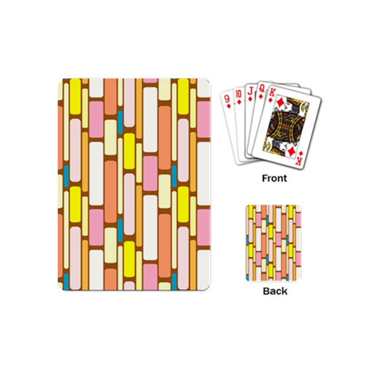 Retro Blocks Playing Cards (Mini)
