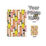 Retro Blocks Playing Cards 54 (Mini)  Front - Spade8