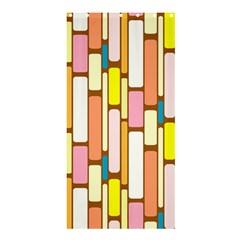 Retro Blocks Shower Curtain 36  x 72  (Stall)